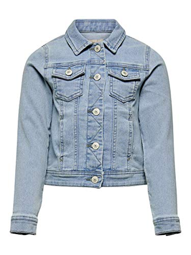 Kids Only Unisex Kinder KONSARA DNM Jacket NOOS Jacke, Light Blue Denim, 146