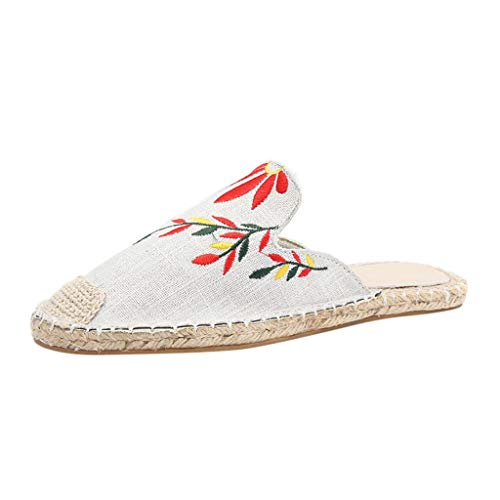 Clogs Hausschuhe Badeschuhe Zehentrenner Pantoletten Sandalen Trekking Sandalen Bade Sandalen Flops Offroad Sneaker Erholungsschuhe Pantoffeln (40,Weiß)