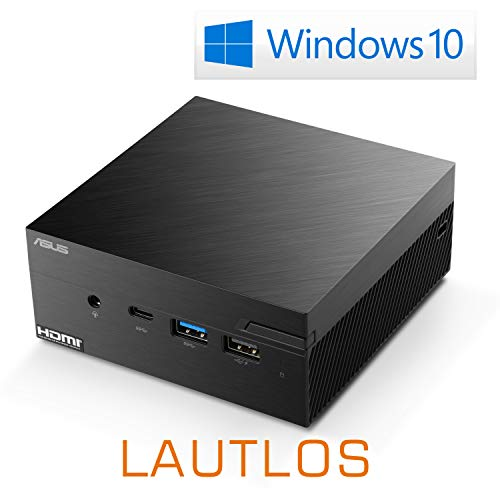 Mini-PC - ASUS PN40 / 500 GB M.2 SSD / 16GB RAM/Win 10 Home - Silent-PC mit Intel-CPU 4X 2400MHz, 500 GB M.2 SSD, 16 GB DDR4 RAM, Intel UHD Grafik, AC WLAN, USB 3.1, HDMI, Bluetooth 5.0, Windows 10