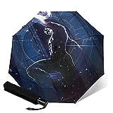 Paraguas plegables Captain America Paraguas automatización Portátil de tres pliegues, compacto y Portátil plegable cortavientos impermeable y anti-UV