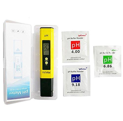 Tragbares pH Meter Gelb pH Tester für Wasserqualität Digitaler Bildschirm anzeiget Trinkwasser Aquarium