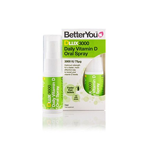 2 x BetterYou Dlux 3000 Vitamin D Daily Oral Spray 15ml