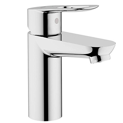 Grohe 23085000 BauLoop Single Hole 1-Handle Low Arc Bathroom Faucet in Starlight Chrome