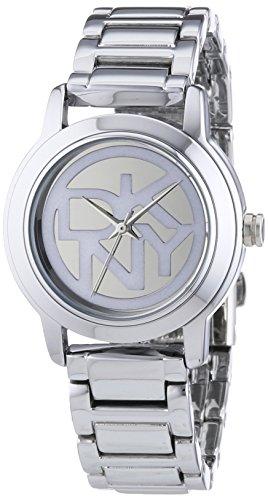 DKNY 0 - Reloj de Cuarzo para Mujer, con Correa de Acero Inoxidable, Color Plateado