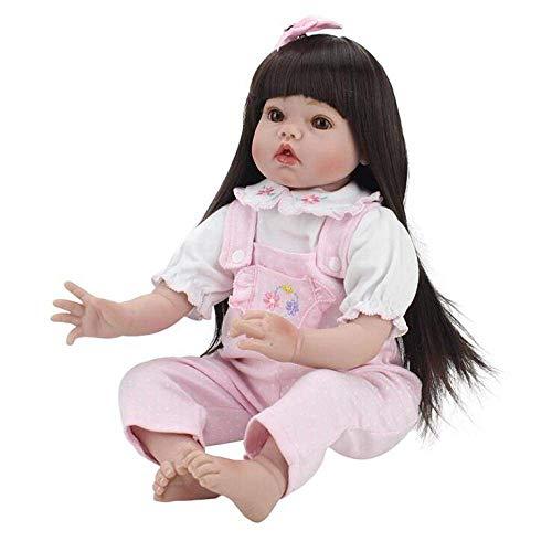 Reborn Baby Dolls Silicona Vinilo Reborn Baby Dolls Hecho A Mano Realista Baby Doll Simulación Suave 20 Pulgadas 50 Cm Ojos Abiertos Mini Vestido Rosa Chica Regalo Favorito