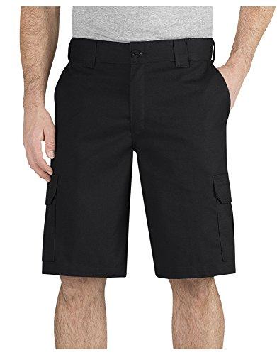 Dickies Men's 11 Inch Regular Fit Stretch Twill Cargo Short, Black, 38