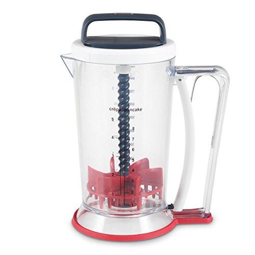 ZYLISS Smooth Blend - 2-in-1 deegmixer en deegdispenser in één, voor pannenkoeken, pannenkoeken, muffins en wafels deeg - snel, eenvoudig | schoon. 900 ml.