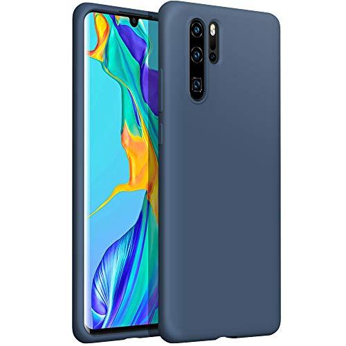 YATWIN kompatibel mit Handyhülle Huawei P30 Pro Hülle Silikon, Ultra Dünn Flüssig Silikon Hülle Huawei P30 Pro Hülle, Schutzhülle Huawei P30 Pro Hülle, 3-Layer Schutzhülle Blau