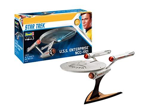 Revell-U.S.S. Enterprise NCC-1701 (Tos), Escala 1:600 James T. Kirk Kit de Modelos de plástico, Multicolor, 1/600 04991/4991