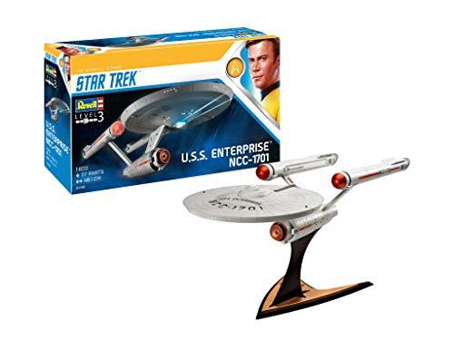 Revell-U.S.S. Enterprise NCC-1701 (Tos), Escala 1:600 James T. Kirk Kit de Modelos de plástico, Multicolor, 1/600 04991/4991