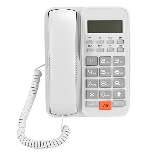 ASHATA KX-T2024 Línea Fija de Oficina Comercial, teléfono para Colgar en la Pared, con función de Silencio, Llamada con Manos Libres en el hogar, teléfono Fijo con marcación de un Toque(General)