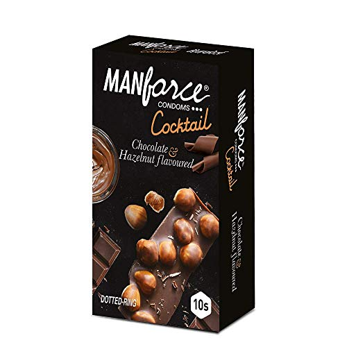 Manforce Extra Dotted COCKTAIL CHOCOLATE & HEZELNUT Flavoured Condom Set Of 3 , ( 30 S)