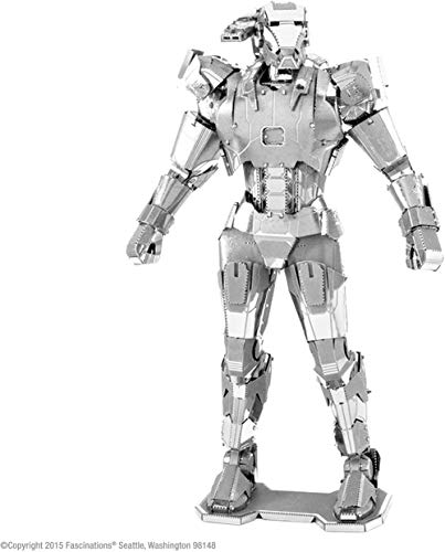 Fascinations Metal Earth MMS323 - 502643, Marvel Avenger War Machine, Konstruktionsspielzeug, 3 Metallplatinen, ab 14 Jahren