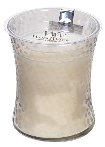 WoodWick, candela profumata a clessidra in legno con stoppino in vetro martellato, media – 300 ml