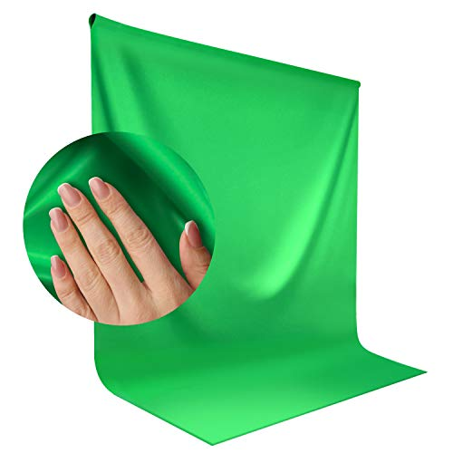 LimoStudio, AGG1846, 9 x 13 feet Green Backdrop Muslin, Soft Fabricated Background Screen for Chroma Key Photo Video Shooting, Streaming, Photography Studio