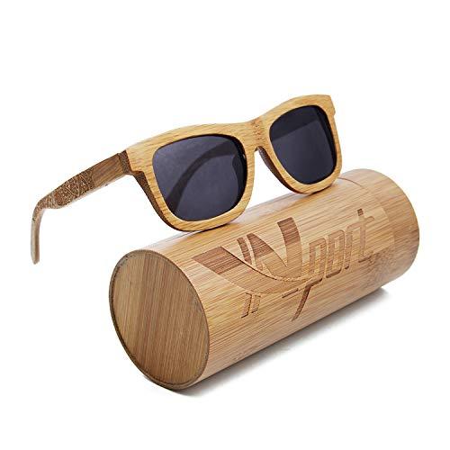 Ynport Crefreak - Gafas de sol polarizadas con montura de bambú, revestimiento de madera, para hombre y mujer, carbón vegetal, flotan en el agua, YNEU, Gris Estilo 853
