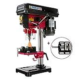 Arebos Tischbohrmaschine | mit integriertem Positionslaser | 500 W | inkl. 16mm Zahnkranzbohrfutter und Schraubstock | 5 Geschwindigkeitsstufen | 0 – 45 Grad Neigungswinkel