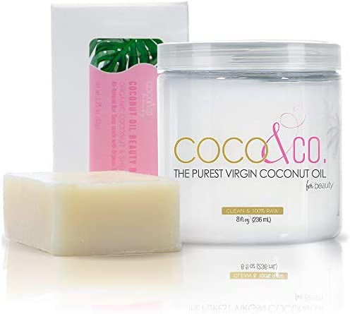 COCO CO Pure Coconut Oil Beauty Bar All Natural Soap For Face Skin Hair BAR JAR product image