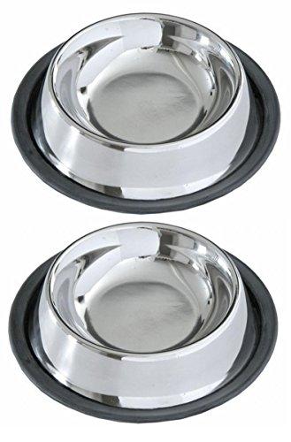 Comederos y Bebederos para Perros/ Comedero Perro y Gato de Acero Inoxidable/ Comedero Acero Inoxidable 15cm para Peros y Gatos Pack 2