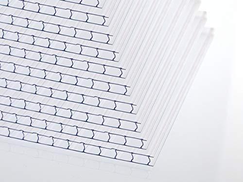 Löffert Kunststoffe | 10 Stück - 4mm - 150 x 70 cm (10,5 m²) | Gewächshausplatten | Polycarbonat | Doppelstegplatte | Hohlkammerplatte | 800g/m²