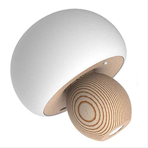 LED-lamp paddenstoellicht, magnetisch, USB, nachtlampje, sfeerlicht, zacht, baby, kinderen, slapen, bedlampje, 10 x 10 cm, wit