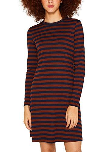 edc by ESPRIT Damen 109CC1E032 Kleid, Braun (Rust Brown 220), Small (Herstellergröße: S)