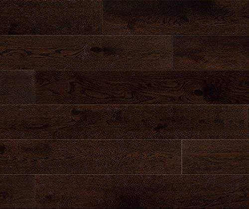 HORI® Klick Parkett 300 Dielenboden Parkettboden Eiche Country Espresso gebürstet Landhausdiele 1-Stab mit Fase matt versiegelt I Eiche I 7 Dielen im Paket = 0,99 m²