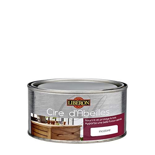 LIBERON Cire d'abeille bois liquide - protège le bois de l'eau et des tâches -Nourrit le bois, Incolore, 0,5L