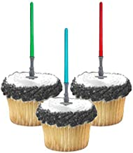 Adorox Star Wars Lightsaber Cupcake Picks Toppers Birthday Fun Party Decorations Kit (24)