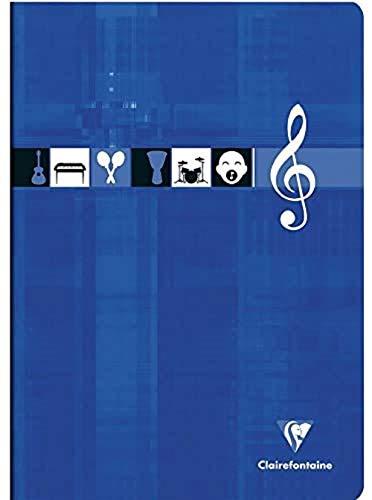 Clairefontaine - Cuaderno de pentagramas (21 x 29,7 96 páginas), colores surtidos