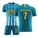 XUP Antoine Griezmann # 7 Home Atletico Trikot de Saison Auswärts Madrid Jersey Sportanzug Fußball-Sportbekleidung T-Shirt (Marine, 60)