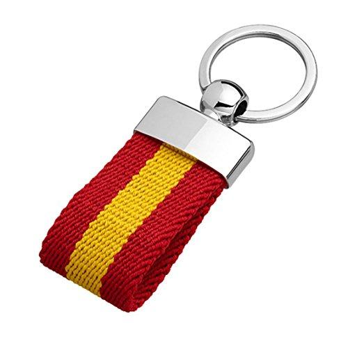 YOJAN PIEL | Llavero Lona | Bandera España | Diseño Discreto Y Elegante | Bandera Española (España) | Resistente Duradero y Elegante | Gran Acabado y Calidad