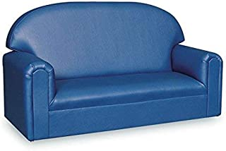 Brand New World Furniture FIVB100 Brand New World Toddler Premium Vinyl Upholstery Sofa, Blue