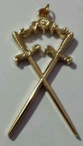 Masonic Sentinel Collar Jewel in Gold Tone