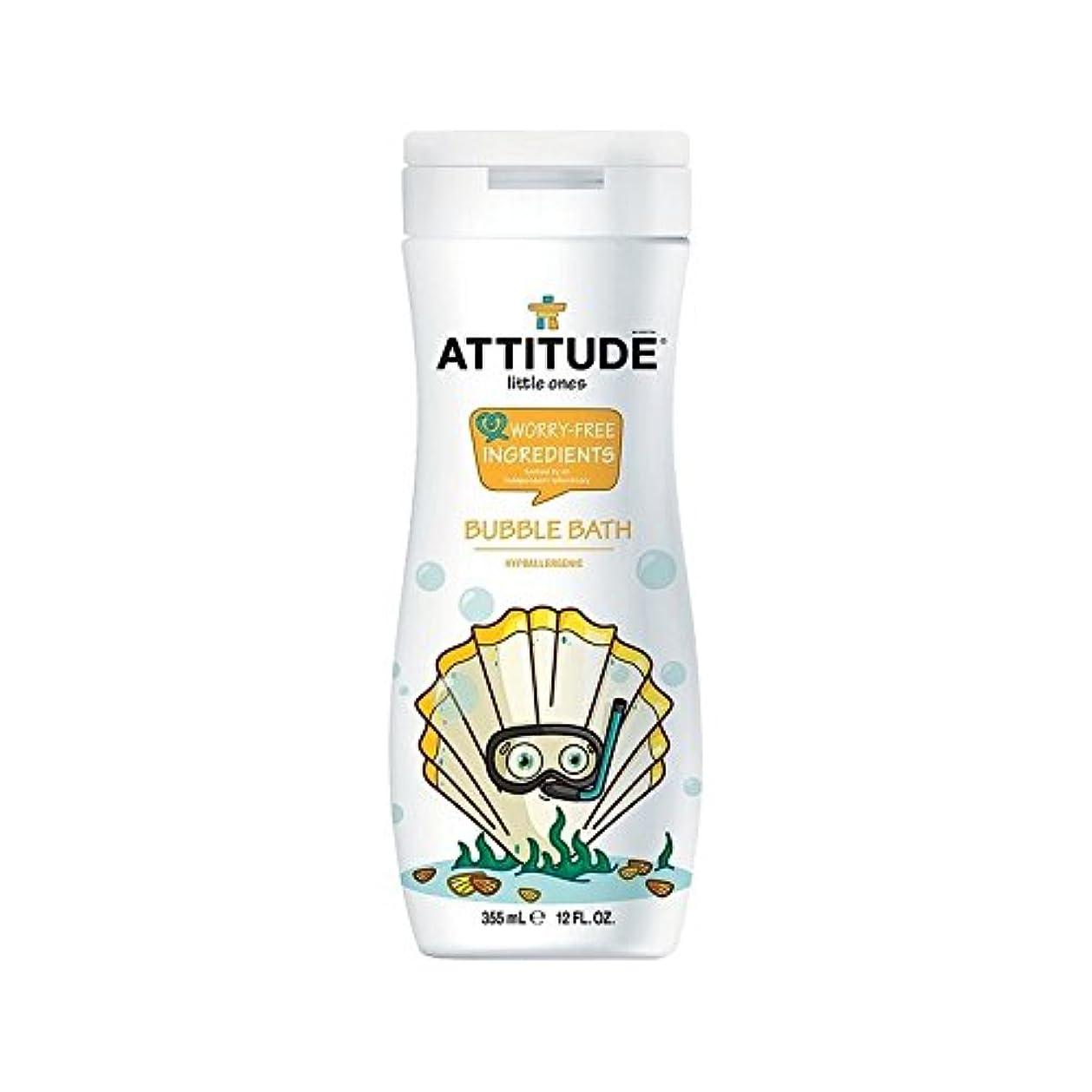 フロント種をまくベジタリアンエコキッズ低刺激性の泡風呂の355ミリリットル (Attitude) (x 4) - Attitude Eco Kids Hypoallergenic Bubble Bath 355ml (Pack of 4) [並行輸入品]