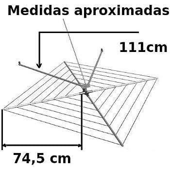TENDEDEROS MARTA Tendedero Classic automático de Acero Inoxidable Cubierto para Exteriores 13 m de tendido: Amazon.es: Hogar
