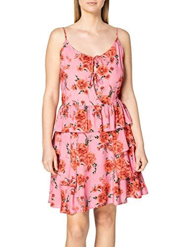 REPLAY W9613 Vestido, 010 Rosa/Rojo/Verde Bosque, L para Mujer