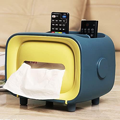 Mifty Soporte De Papel Higiénico Caja De Pañuelos De TV Multifuncional Caja De Bombeo Caja De Servilleta Linda Creativa para El Hogar Accesorios De Baño Cocina Accesorios Baño (Color : Yellow)