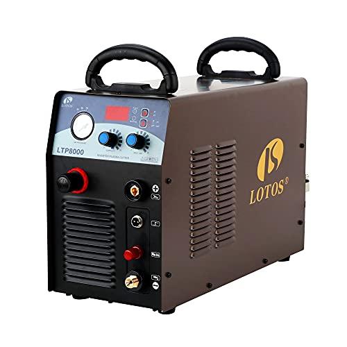 Lotos LTP8000 80 A Plasma Cutter with Pilot Arc Metal Cutter 220~240V, 1 inch Clean Cut, Brown