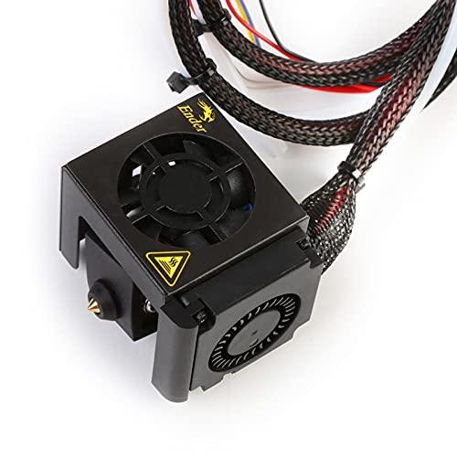 Creality Ender 5 Plus Completo Hotend Kit , Originale Estrusore Kit Hotend MK8 con Blocco Riscaldante in Alluminio Ugello da 0,4 mm, Doppie Ventole e Tubo per Parti Della Stampante 3D Ender 5 Plus