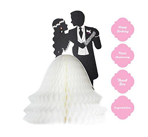 Yuricom handgefertigte Wabenmuster Pop-Up Puppenkarte–Wabenmuster Pop-Up Grußkarten zum Geburtstag, Dank, Hochzeit, Liebe, Glückwunsch, Datum vormerken. Marta