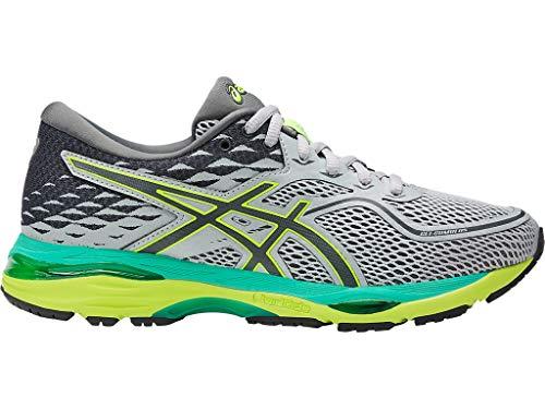 ASICS Women's Gel-Cumulus 19 Running Shoe, Mid Grey/Carbon/Safety Yellow, 8.5 Medium US