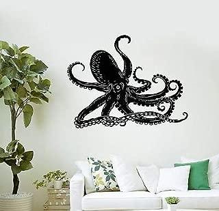 V-studios Wall Decal Octopus Kraken Marine Animals Bathroom Art Vinyl Stickers VS005