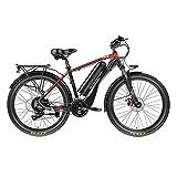Liu Yu·casa creativa Bicicleta eléctrica para Adultos 500W 48V Bicicletas eléctricas de montaña para Hombres, Bicicleta eléctrica 10ah Batería de Litio Ebike, 20MPH (Color : Negro)
