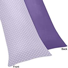 Sweet Jojo Designs Lavender Polka Dot and Purple Sloane Full Length Double Zippered Body Pillow Case Cover