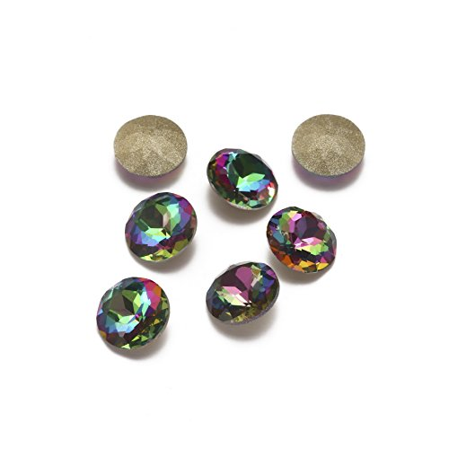 Qimeiya Nail Art strass 20 pcs NEUF arc-en-ciel Couleur Verre Strass pour nail art Décorations Pointback Stickers ongles DIY Craft Art