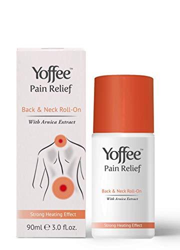 Yoffee - Schmerzgel Roll On - Wärmegel mit Arnika zur Schmerzlinderung von Nacken, und Rückenschmerzen, Sofortige Muskelentspannung und mehr Bewegungsfreiheit, Keine Schmerzen mehr, SOS-Hilfe, 90ml