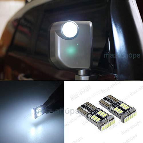 FidgetFidget 2Pcs Canbus White Side Mirror Lights LED Bulbs for 2007-2013 Toyota FJ Cruiser