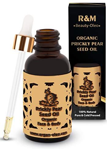 R&M Kaktusfeigenkernöl Bio - Premium Kaktusfeigenöl Für Gesicht, Körper & Haar - Prickly Pear Seed Oil Für Eine Schönere Haut Und Ein Reines Gesicht - Kaktusöl 30ml