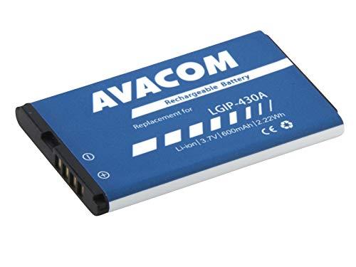 Batteria per cellulare LG KP100 Li-Pol 3, 7 V, 600 mAh (ricambio Lgip-430A)